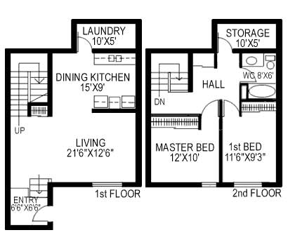 Multiple Townhouse Two Bedroom B